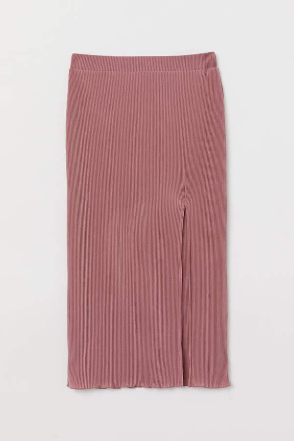 Pleated Jersey Skirt - Pink