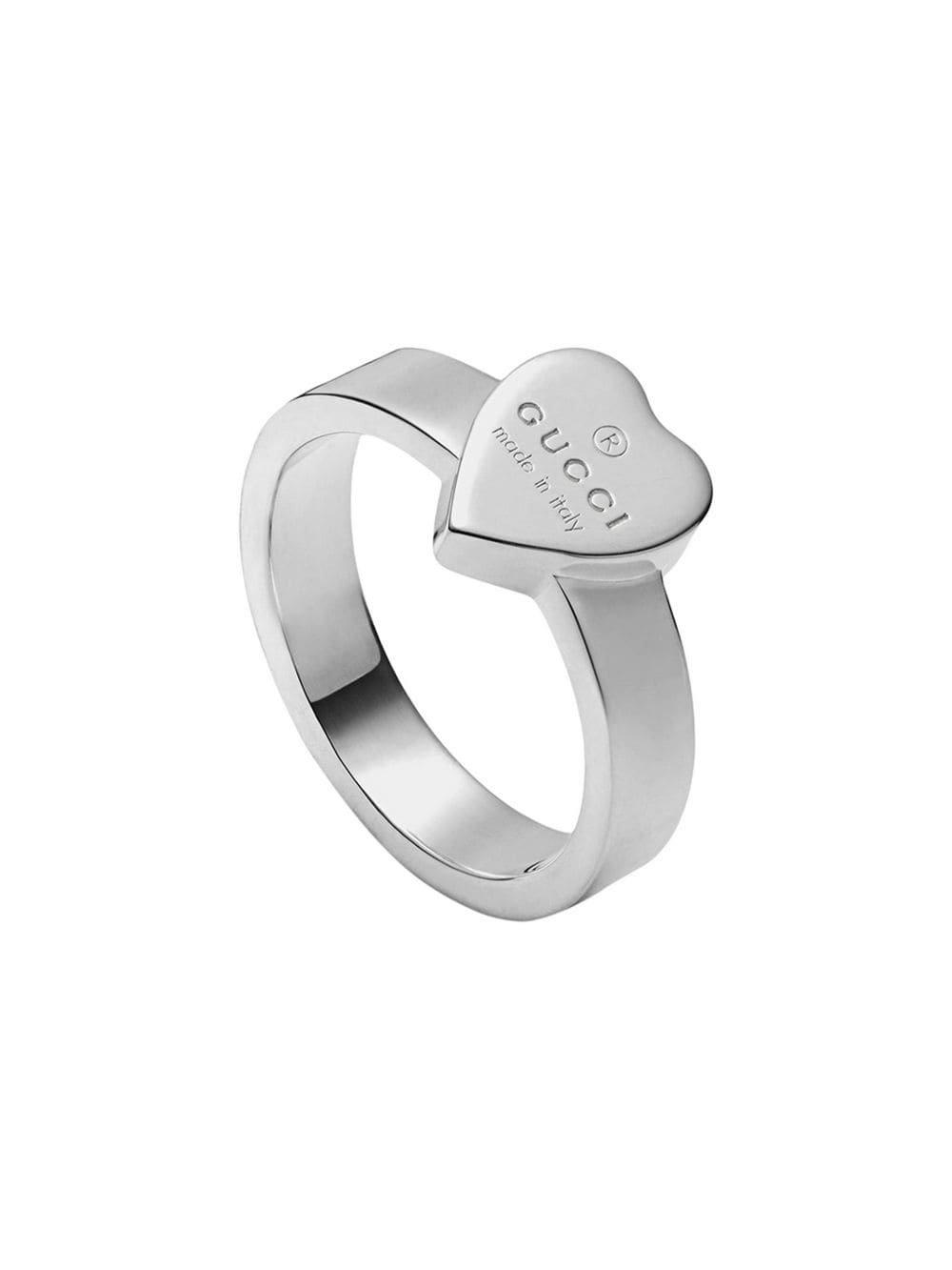 Silver Heart Ring With Gucci Trademark | Farfetch.com