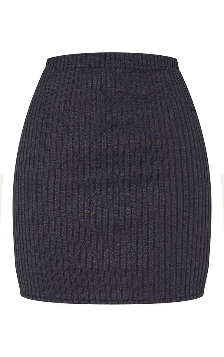 Burgundy Rib Mini Skirt | Skirts | PrettyLittleThing USA
