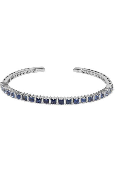 Suzanne Kalan   18-karat white gold, sapphire and diamond cuff   NET-A-PORTER.COM
