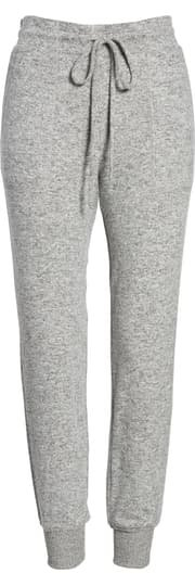 Gibson x Living in Yellow Skye Cozy Jogger Pants (Regular & Petite) (Nordstrom Exclusive) grey