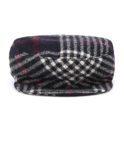 Plaid wool hat