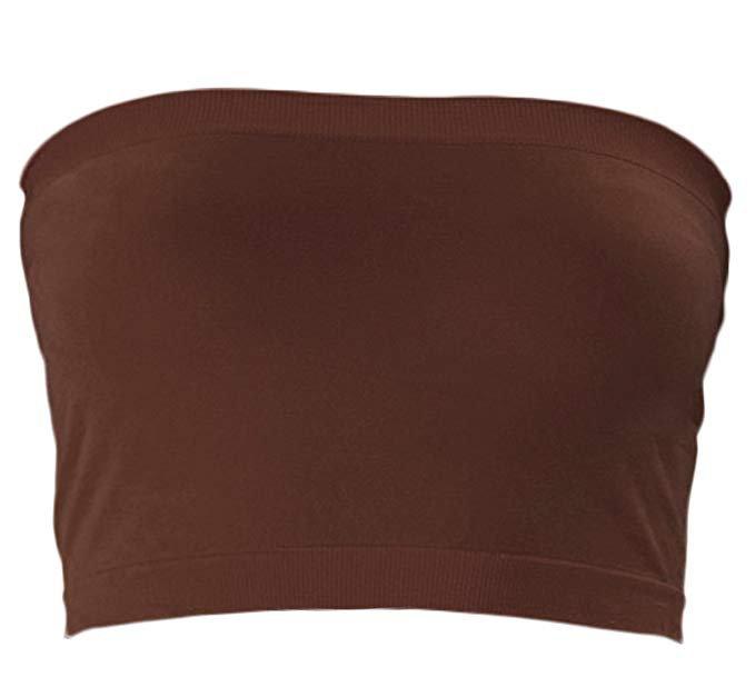brown tube top
