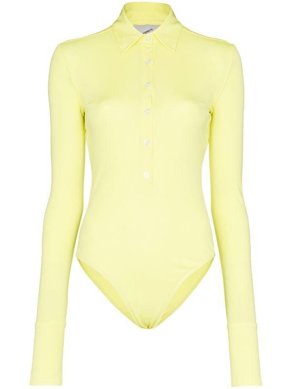 Coperni Shirt Style Bodysuit | Farfetch.com