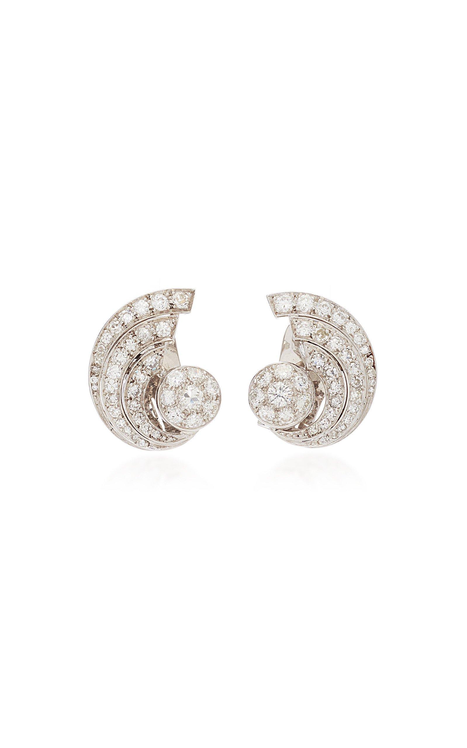 Simon Teakle Diamond Swirl Earrings