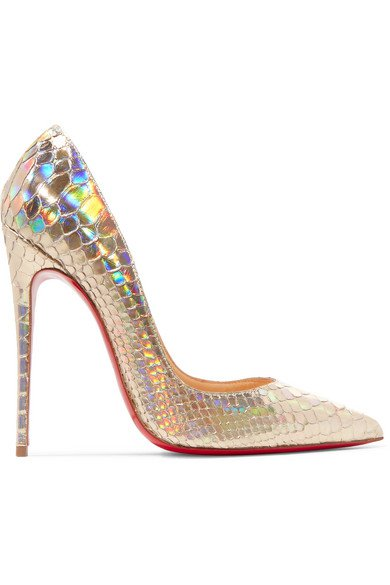 Christian Louboutin | So Kate 120 metallic python pumps | NET-A-PORTER.COM