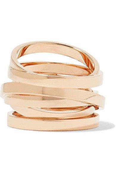 Repossi | Technical Berbère 18-karat rose gold ring | NET-A-PORTER.COM