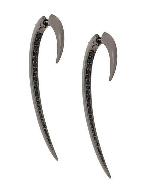 Shaun Leane large black spinel Hook earrings