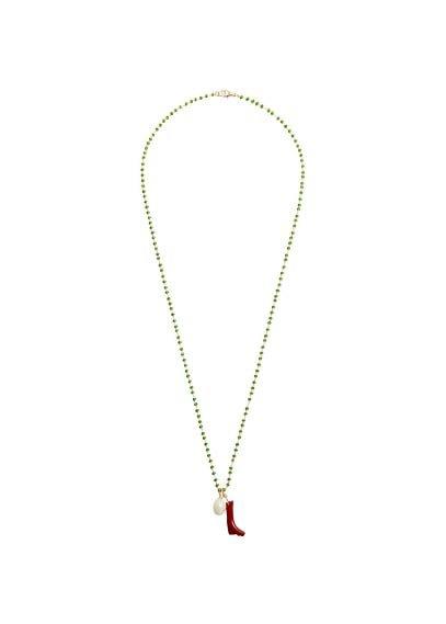 MANGO Pendant crystals necklace