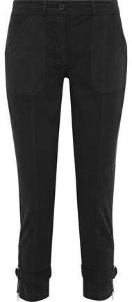 Cropped Cotton-blend Twill Skinny Pants