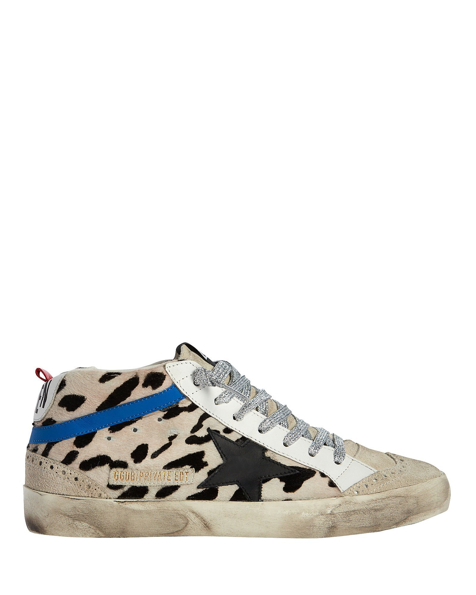 Mid Star Calf Hair Sneakers