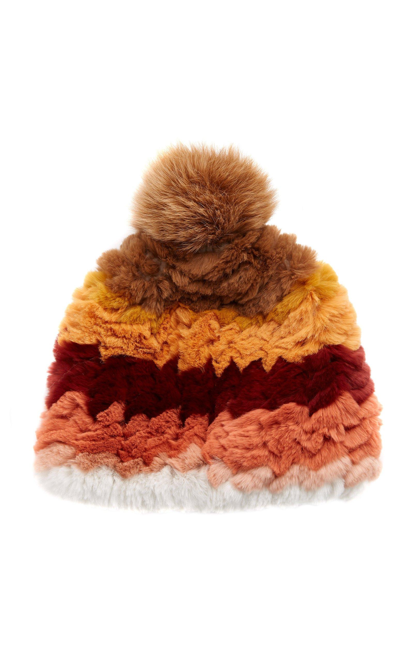Knitted Rabbit And Fox Pom-Pom Hat by Pologeorgis | Moda Operandi