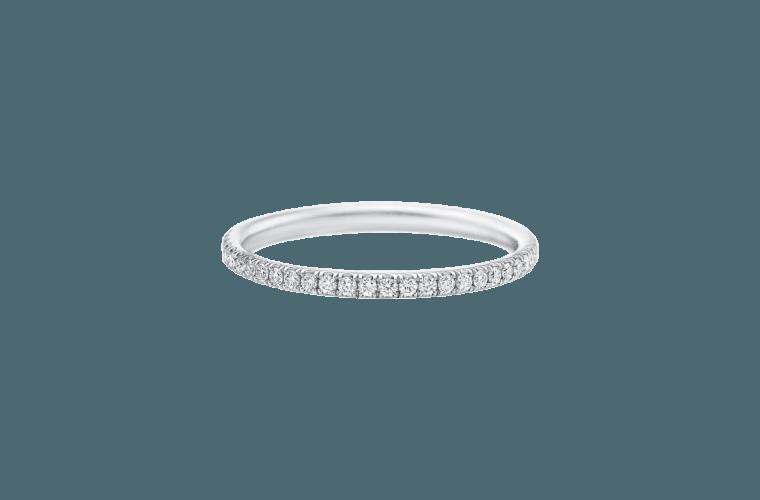 Micropavé Diamond Narrow Wedding Band | Harry Winston