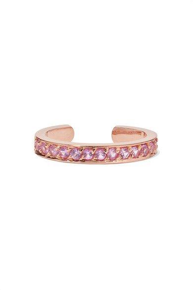 Anita Ko | 18-karat rose gold sapphire ear cuff | NET-A-PORTER.COM