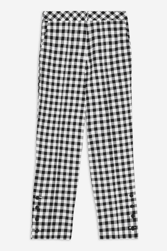 TALL Gingham Tapered Trousers | Topshop White