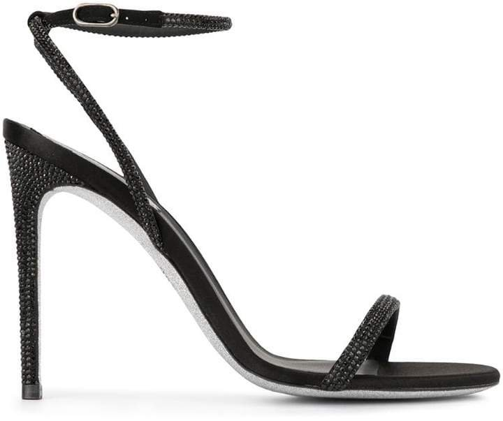 beaded heeled sandals