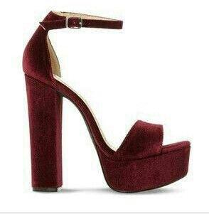 Burgundy Velvet Heels