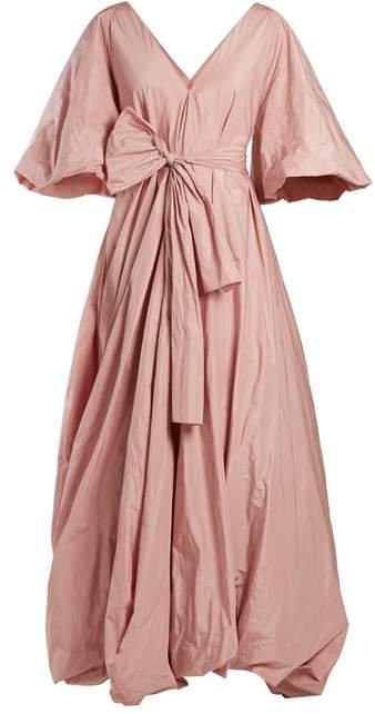 Leegan Tie Waist Taffeta Gown - Womens - Light Pink