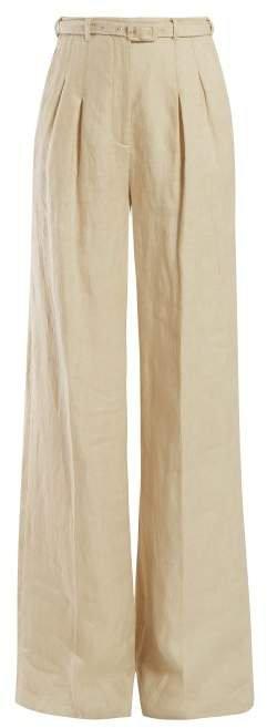 Vargas Linen Trousers - Womens - Beige