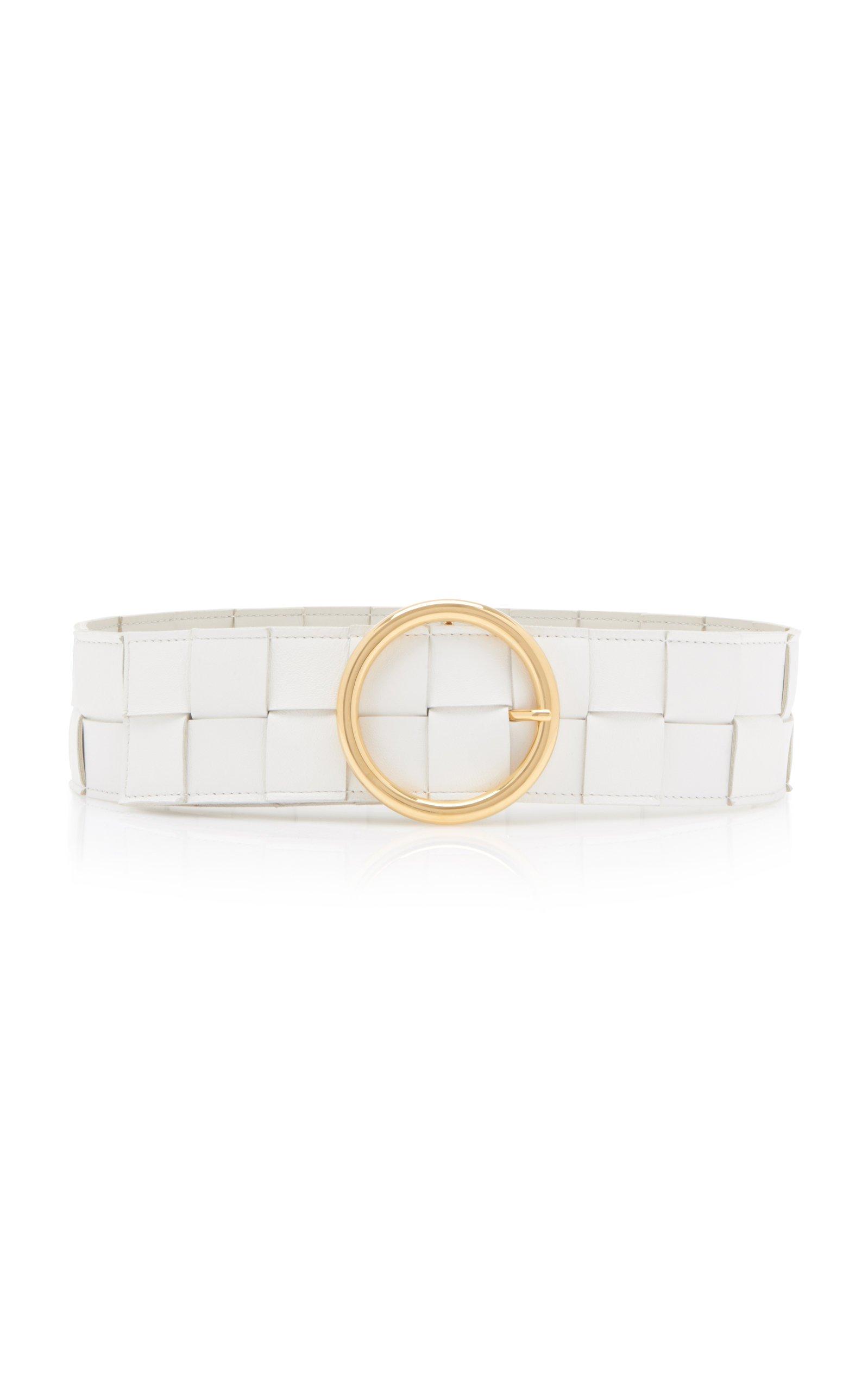 Bottega Veneta Intrecciato Leather Belt Size: 85 cm