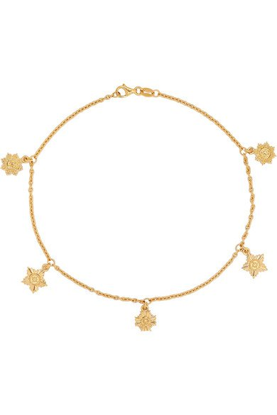 Meadowlark | Maiden gold-plated anklet | NET-A-PORTER.COM