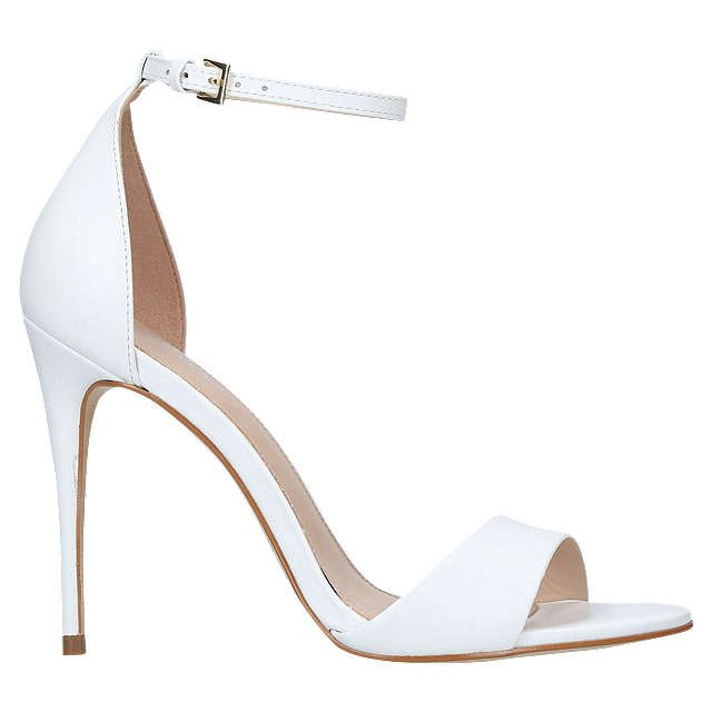 Carvela Glimmer High Heel Sandals, White Leather