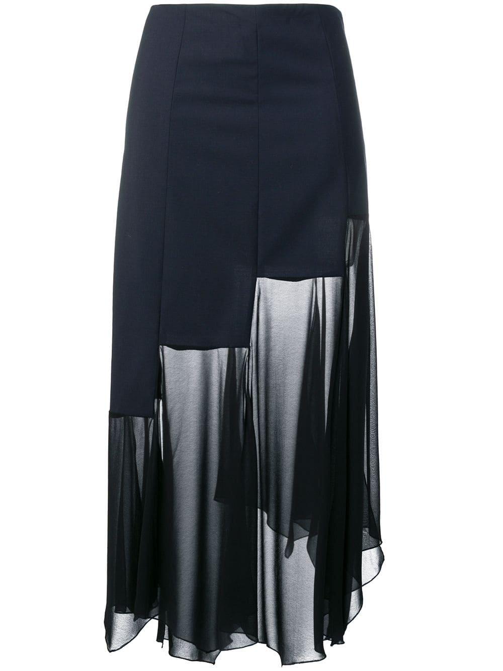Sonia Rykiel Sheer Panel Skirt - Farfetch