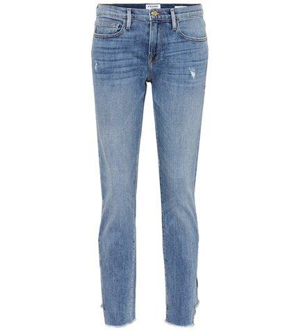 Le Boy mid-rise cropped jeans