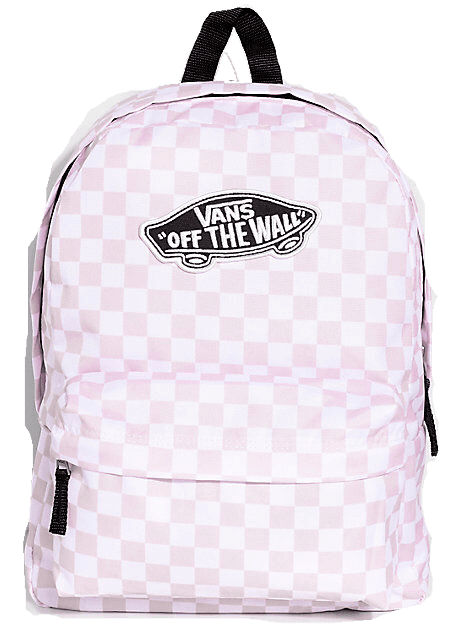 Vans Realm Pink Check 22L Backpack