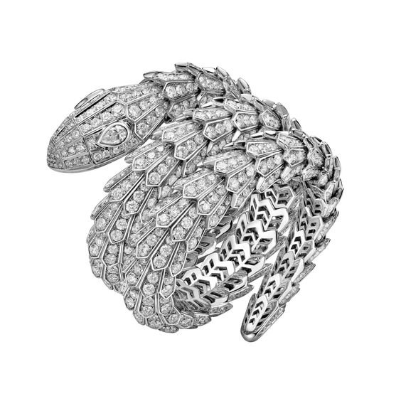 High jewellery Serpenti diamond bracelet | Bulgari | The Jewellery Editor