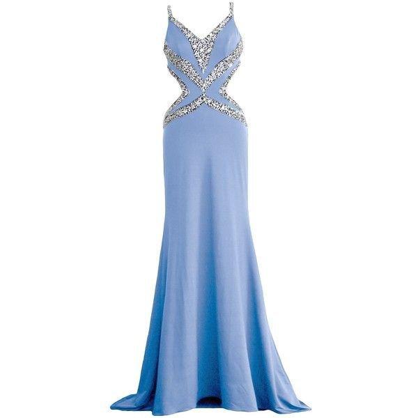 blue long mermaid prom dress polyvore - Google zoeken
