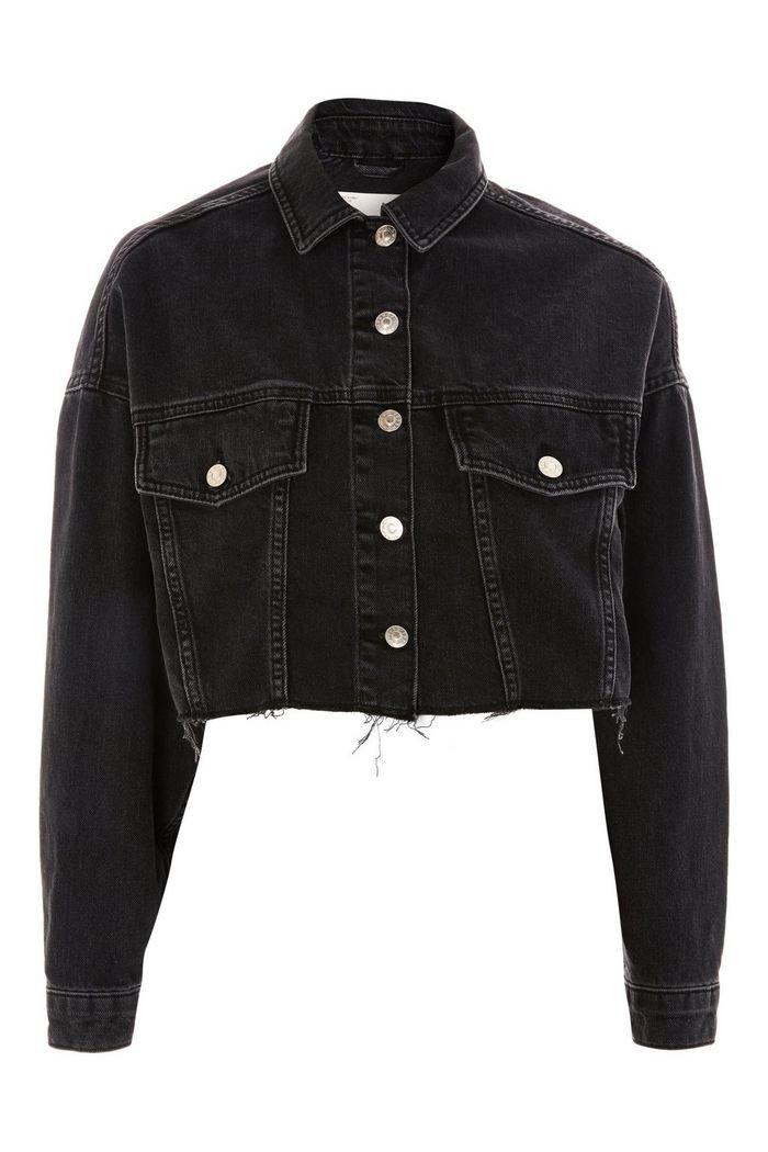 Hacked Off Cropped Denim Jacket   Topshop