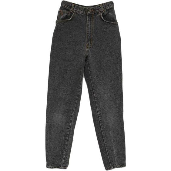 Vintage 90s Pants: 90s -Gitano Express- Womens faded black cotton