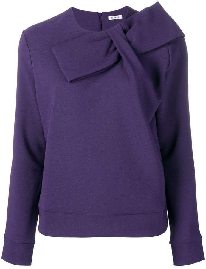 knot-detail sweatshirt