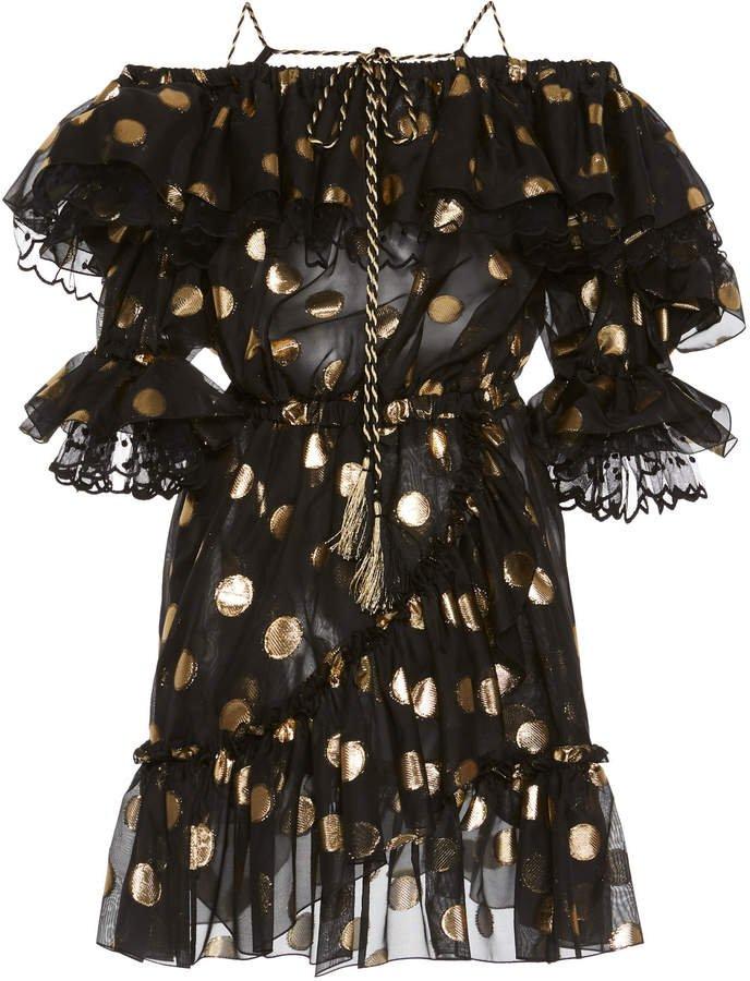 Polka Dot Ruffled Mini Dress