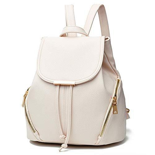 Amazon.com: Z-joyee Casual Purse Fashion School Leather Backpack Shoulder Bag Mini Backpack for Women & Girls,White2: Shoes