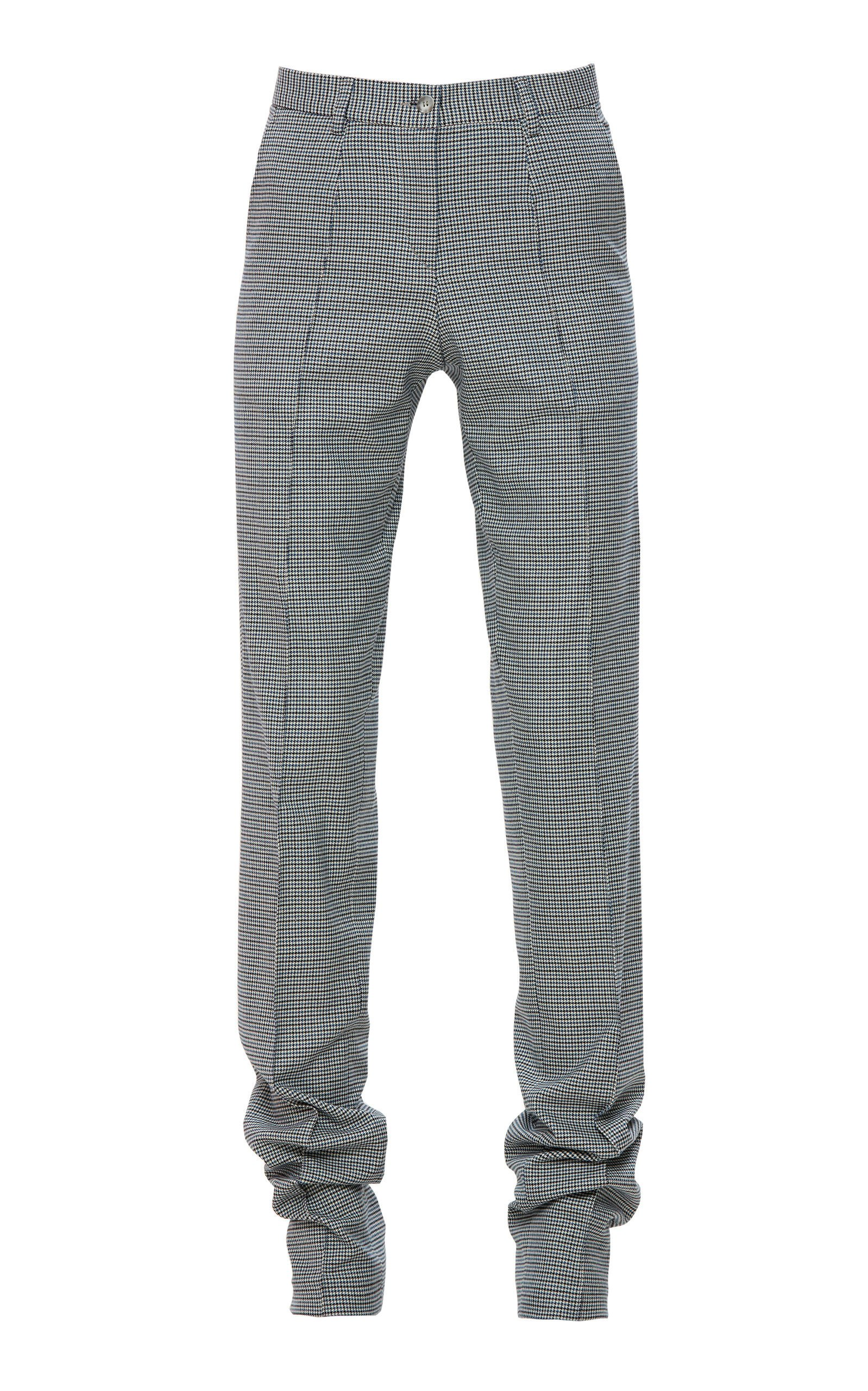 Mach & Mach Skinny Blue Check Trousers