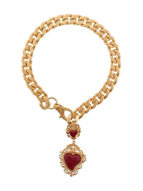 Dolce & Gabbana heart pendant collar necklace