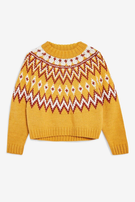 Mustard Fair Isle Jumper - Sweaters & Knits - Clothing - Topshop USA