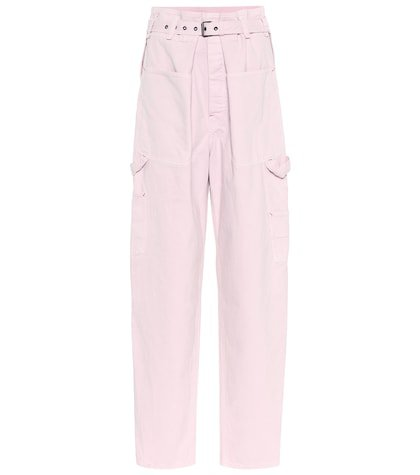 Inny high-rise wide-leg jeans
