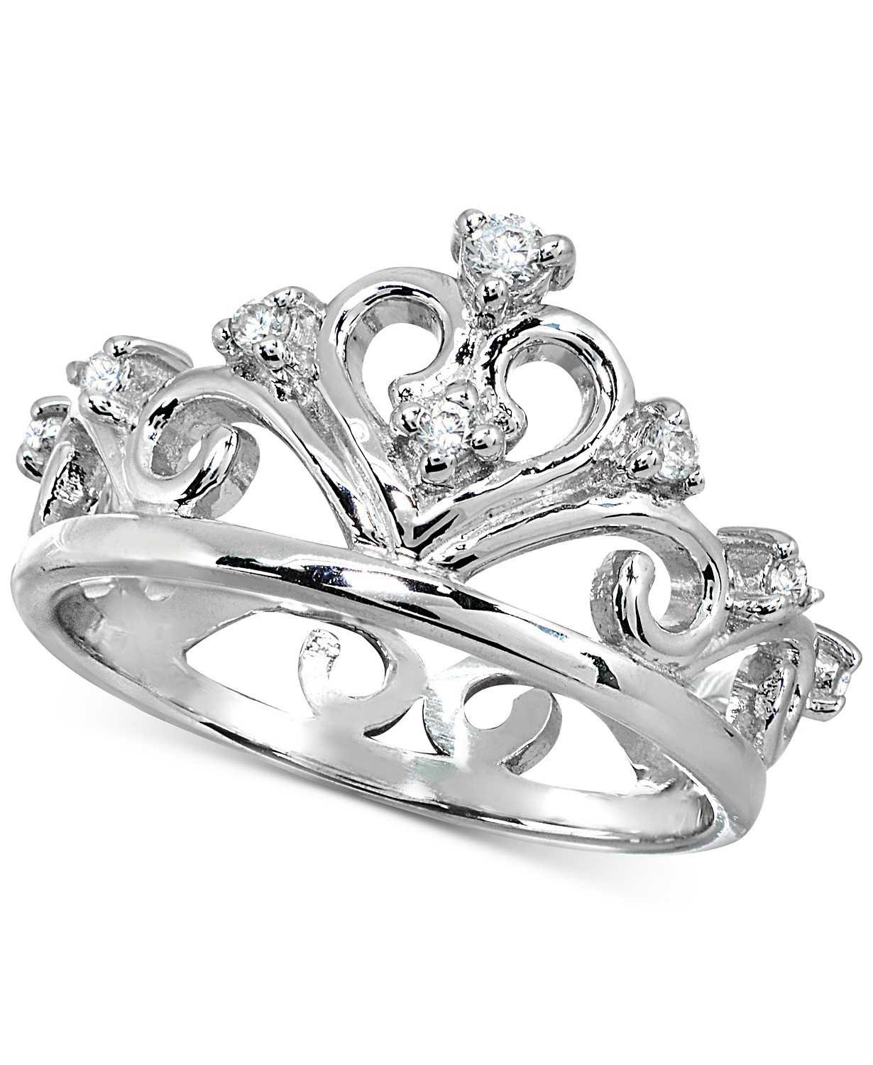 Giani Bernini Cubic Zirconia Stackable Tiara Ring in Sterling Silver, Created for Macy's - Fashion Jewelry - Jewelry & Watches - Macy's