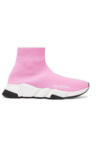 Balenciaga | Speed stretch-knit high-top sneakers | NET-A-PORTER.COM