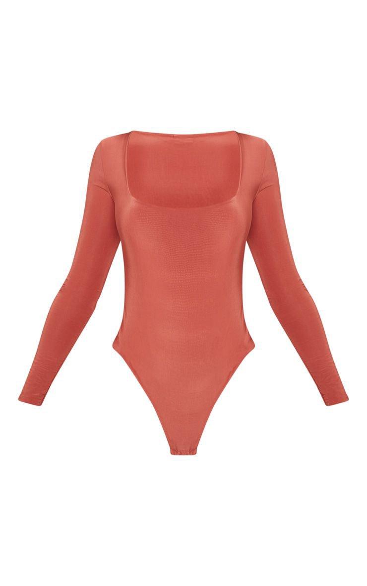 Stone Second Skin Square Neck Thong Bodysuit | PrettyLittleThing USA