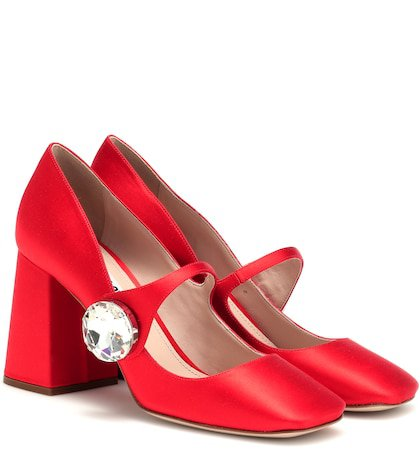 Satin Mary Jane pumps
