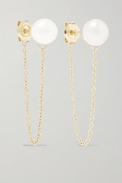 Mateo   14-karat gold pearl earrings   NET-A-PORTER.COM