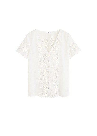 MANGO Lace panel blouse