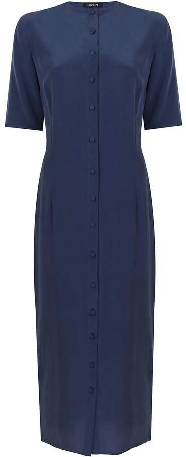 URUN - Urun Button Down Dress In Navy Blue