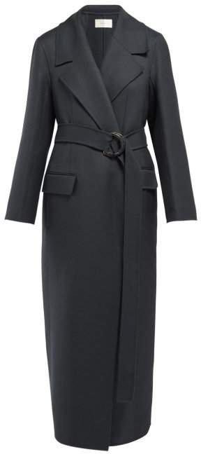 Newen Wool Blend Coat - Womens - Dark Green