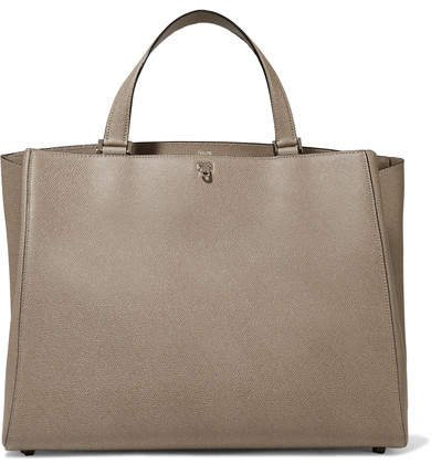 Brera Large Textured-leather Tote - Taupe