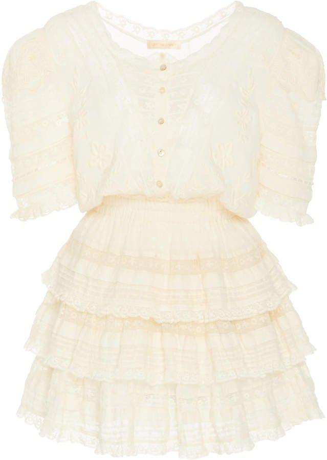 LoveShackFancy Quincy Cotton Mini Dress Size: 00